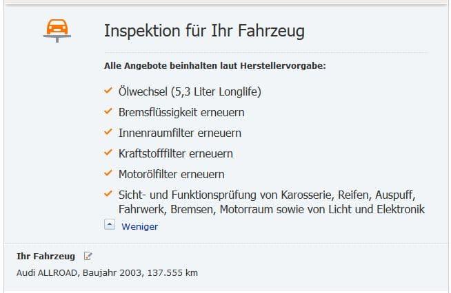 Inspektion Audi A6 Allroad Umfang Intervalle Amp Kosten