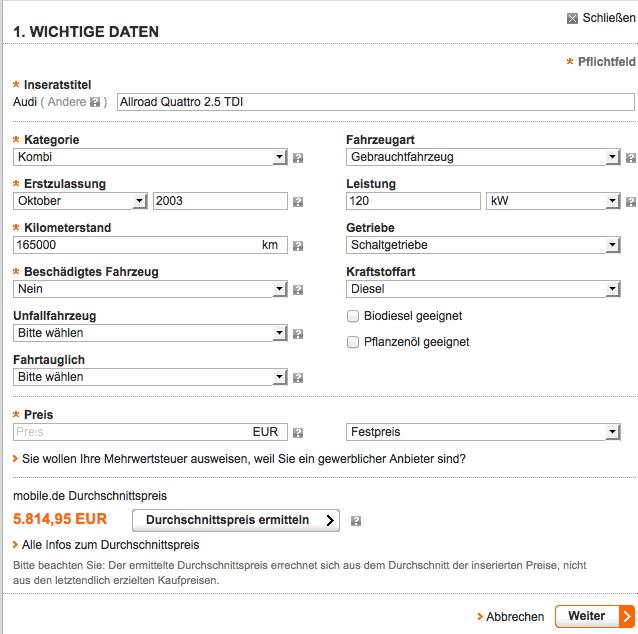 fahrzeugbewertung kostenlos schwacke liste was ist mein auto wert. Black Bedroom Furniture Sets. Home Design Ideas