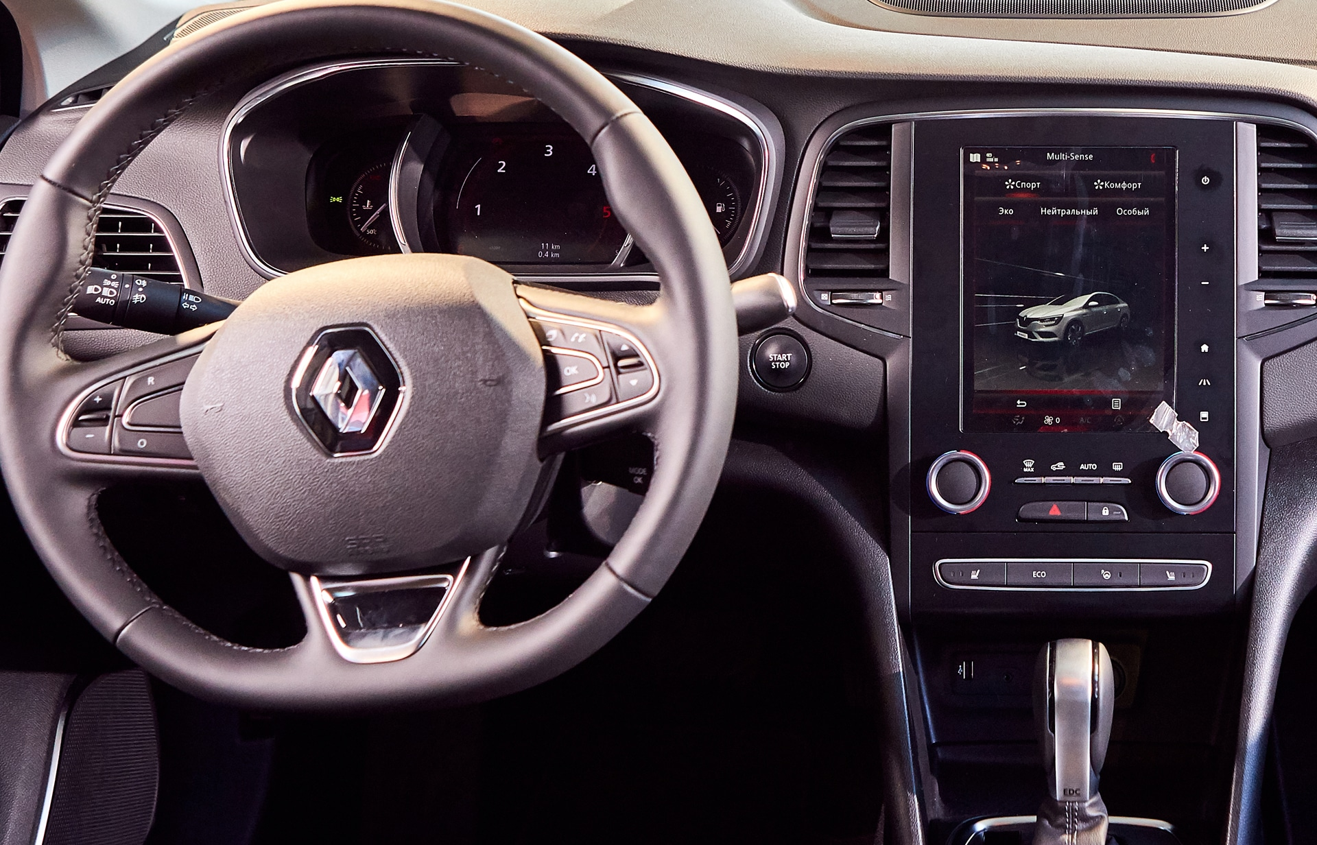 Renault Megane Cockpit mit Kontrollleuchten