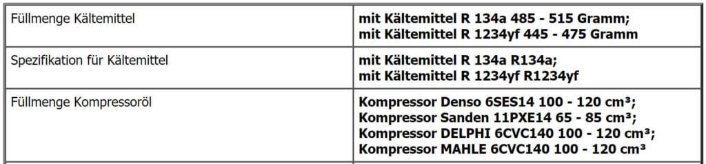 Informationen zum Klimaservice beim VW Golf 7