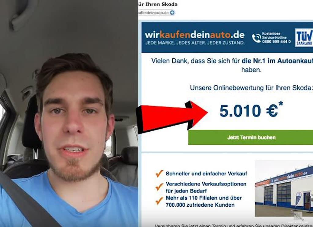 Zuerst Fahrzeug online bewerten