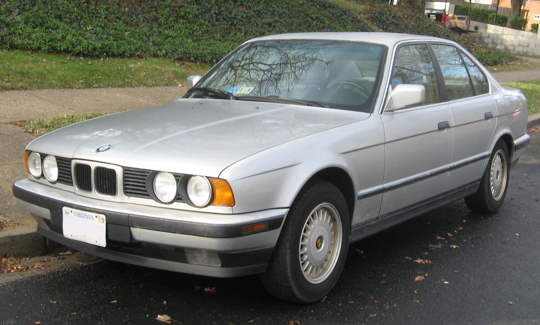 Inspektion bei einem BMW der 5er Reihe Typ E34